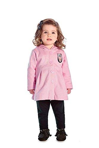 Pulla Bulla Baby Girl Pea Coat Newborn Winter Jacket Infant 3-6 Months - Pink
