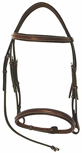 Henri de Rivel Pro Mono Crown Padded Bridle with Laced Reins ()