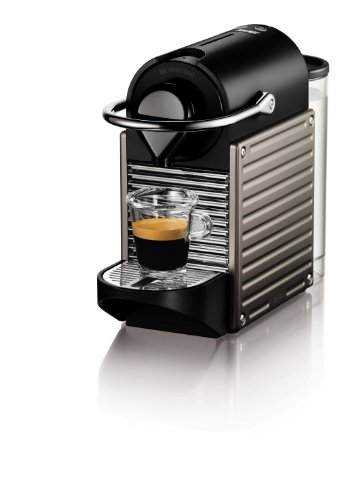 Modern looking Nespresso single serve espresso machine
