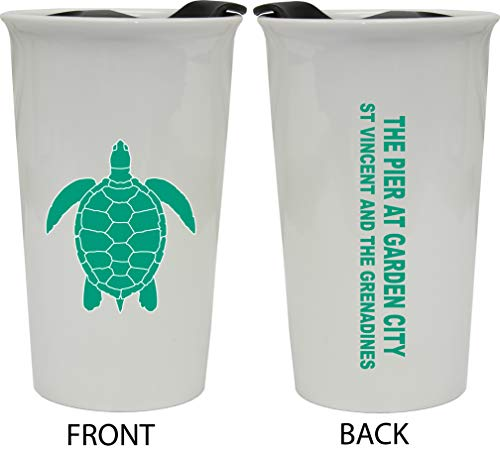 The Pier At Garden City St Vincent And The Grenadines Double Walled Ceramic Coffee Tumbler