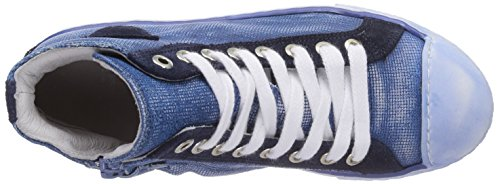 HIP H1790 Unisex-Kinder Hohe Sneakers Blau (46CO)