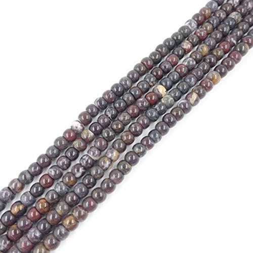 8x10mm Natural Drum Bloodstone Beads Semi Precious Gemstone Beads for Jewelry Making Strand 15 Inch (36-40pcs) (Gemstone Beads Precious)
