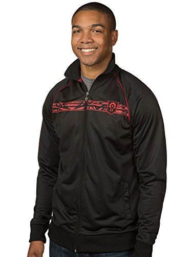 JINX World of Warcraft Men's Horde Track Jacket (Black, Small) - Raid Sweatshirt