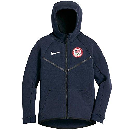 Zip Full Gear Natural Fleece - Nike Boys' Team USA Tech Fleece Full Zip Hoodie Medium