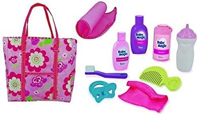 Baby Magic Doll Diaper Bag Gift Set 10 Piece Accessory Play Set