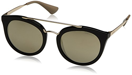 Prada Men's 0PR 23SS Black/Light Brown/Mirror - Mirror Brown Black
