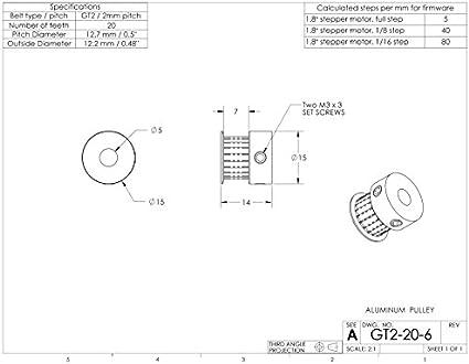 3Meters 2GT-9 Belt for RepRap 3D printer Prusa i3 and 2 x Aluminum GT2 16T Pulley Bore 5mm