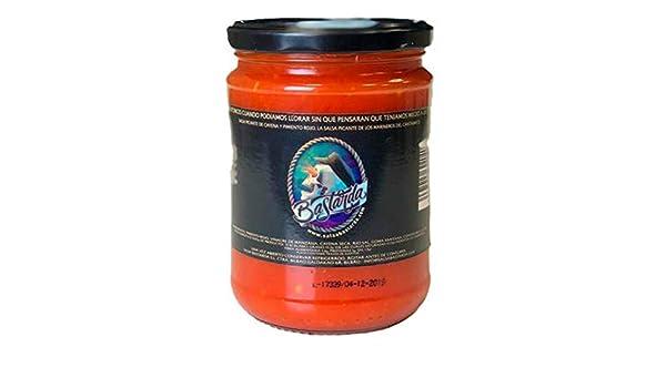 Salsa Bastarda - Salsa Picante Roja Bastarda - 490 gramos / 440 mililitros: Amazon.es: Alimentación y bebidas