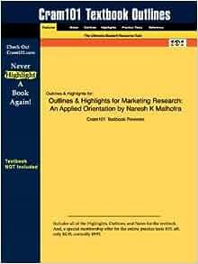 Marketing research an applied orientation naresh k malhotra pdf