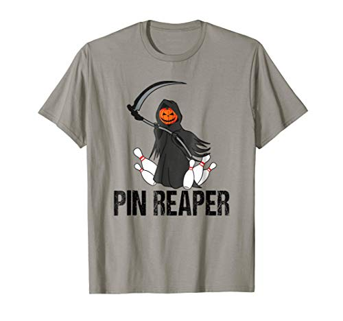 Funny Halloween Bowling Tshirt Pin Reaper Team League]()