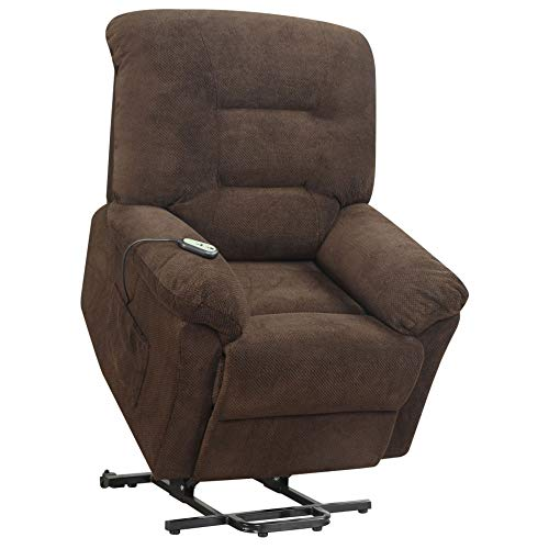 Coaster Home Furnishings Power Lift Recliner in Chocolate