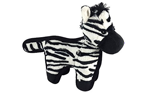 Hyper Pet Tough Plush Zebra Durable Dog Toy with Squeaker