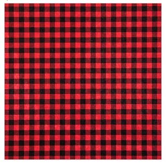 Small Check Buffalo Plaid Woodland Plaid 12x12 Scrapbook Paper - 4 Sheets