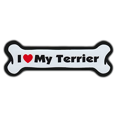 Refrigerator Magnet - Dog Bone - I Love My Terrier (Boston, Silky, Border, Pit Bull, Yorkshire, Scottish) - 7