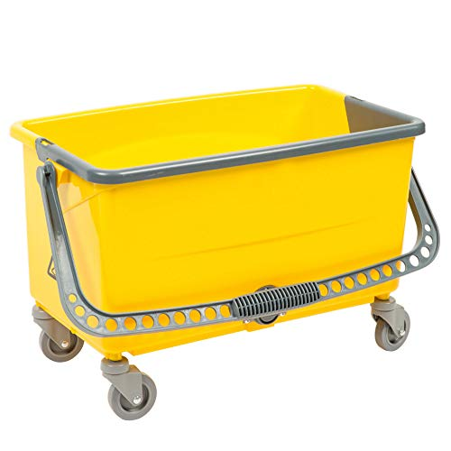 Janitor Microfiber Cart (Janitorial Commercial No-Touch Microfiber Mop Bucket 44 Qt.)