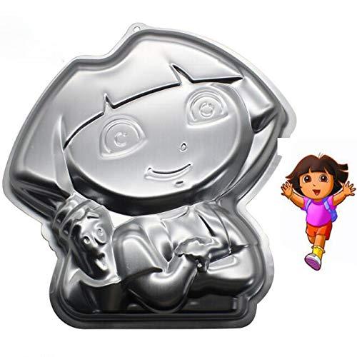 10 Inch Dora explorer aluminum 3D cake mold baking mold tin cake plate - Dora explorer