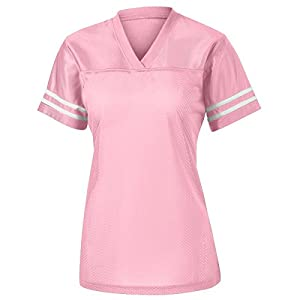Sport Tek Women's Breathable PosiCharge Jersey Light Pink / White Small