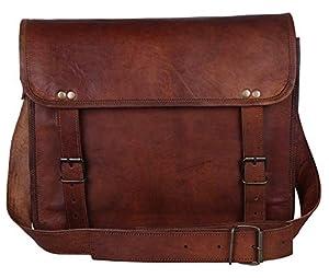 "Rustic Town 13"" - 15"" Genuine Leather Handmade Crossbody Messenger Satchel Laptop Bag"