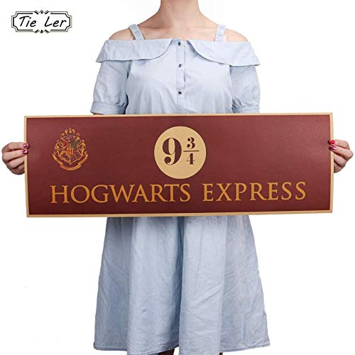 Amazon.com: Chitop 9 3/4 (Nine and Three Quarters) Platform Harry Potter Movie Vintage Paper Decoration - Poster Wall Stickers 72x24cm: Posters & Prints