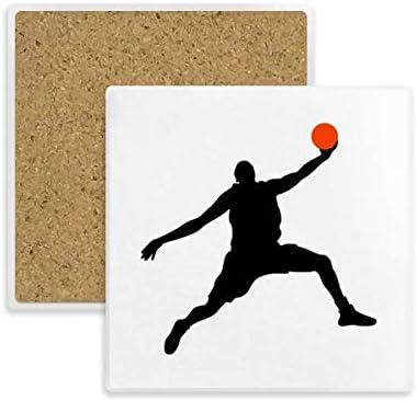 Slam Dunk - Posavasos cuadrado de baloncesto para bebidas, 2 ...