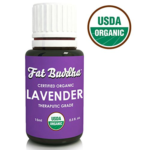 Guides Buddha (Organic Lavender Essential Oil from Fat Buddha, USDA Certified, 100% Pure Therapeutic Grade, Improve Sleep, Reduce Stress, Heal Bruises, Sustainably Sourced, Small Batch Produced - 15ml)