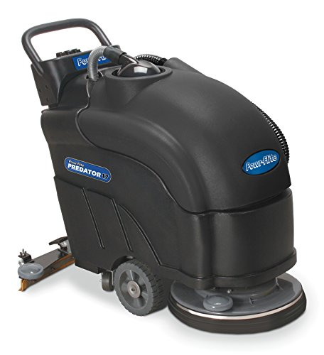 Powr-Flite PAS17BA-BC Predator Battery Powered Automatic Scrubber with Pad Driver, 200 rpm, (Janitorial Scrubbers)