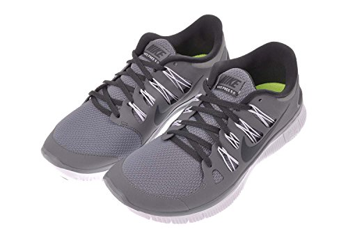 Chaussure De Course Respirante Nike Mens Free 5.0+ Respirant Gris / Anthracite / Blanc