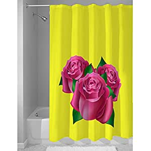 Right Canvas Yellow/Pink 180cm x 200cm Shower Curtain - RG138NPFL00024