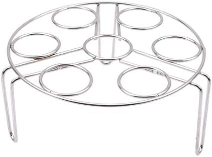 Ogquaton Premium Kwaliteit Ei Stoommand Rack Trivet Rvs Stapelbare Groente Ei Fornuis Stoomrek Stand voor Instant Pot en Snelkookpan