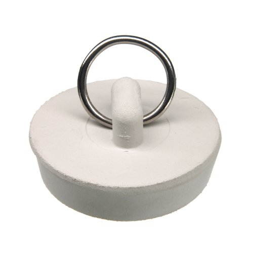 Danco 1-1/2 inch Rubber Drain Stopper, White, Carded, 80227