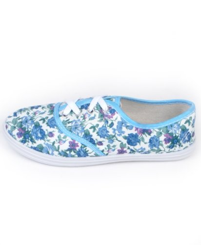 Womens All Star Solid Color Canvas Sneakers Blue EPpH7PbVr