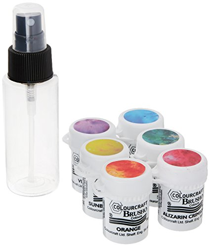Brusho by Colourcraft 6 Color Craft Spritzer Brusho Crystal Colour Set
