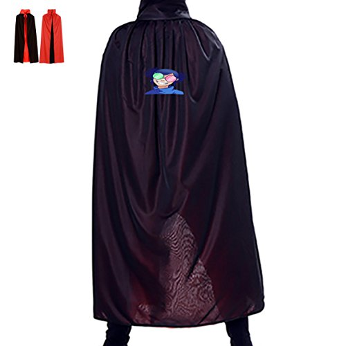 Gorillaz Noodle Phase 4 Unisex Hooded Halloween Cape Costume Wizard Cloak 55(in)