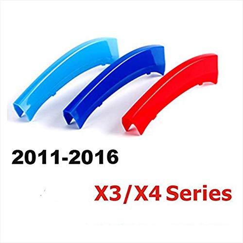 7 strisce Grille Calandre Capuchon Boucle Bande M Couleur Maiqiken 3D Grille Avant Trim Grill Kidney Clip Couverture pour X4 F26 2011-2017