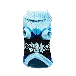 Sunward Puppy Clothing,Pet Dog Cat Winter Warm Turtleneck Sweater Coat Costume Apparel