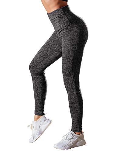 DJT Women's Running Workout Leggings for Yoga with Pocket Dark Grey 2XL