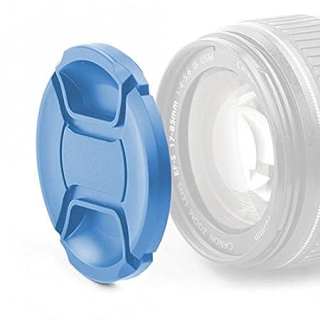 Bleu pour /Ø 82mm CELLONIC Capuchon dobjectif E-82 II, LC-82, LCF-82, CP-82 Avant Capot de Protection Snap-on: Pincement Central Couvercle