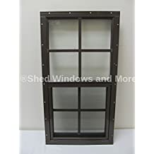 Shed Window 14 X 27 Brown Flush Safety Glass Playhouse Window