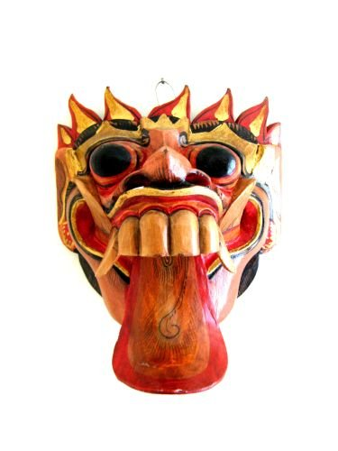 - OMA Barong Mask Wall Hanging Decor- Barong Dance Lion Mask Indonesian Theater Mask Brand