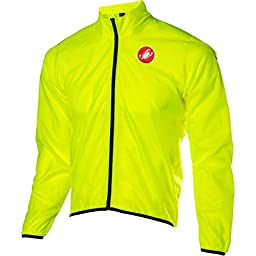 Castelli Squadra Long Jacket Yellow Fluo, M - Men\'s
