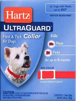 "Hartz Ultraguard Flea & Tick Dog Collar 23"" - Red"