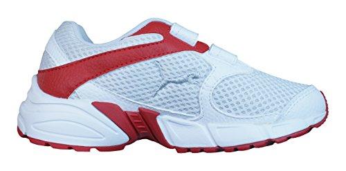 Puma Axis Trainer Mesh V muchachos de los zapatos corrientes White