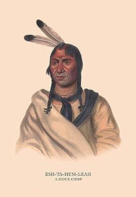 """Esh-Ta-Hum-Leah (A Sioux Chief)Fine art canvas print (20"""""""" x 30"""""""")"""