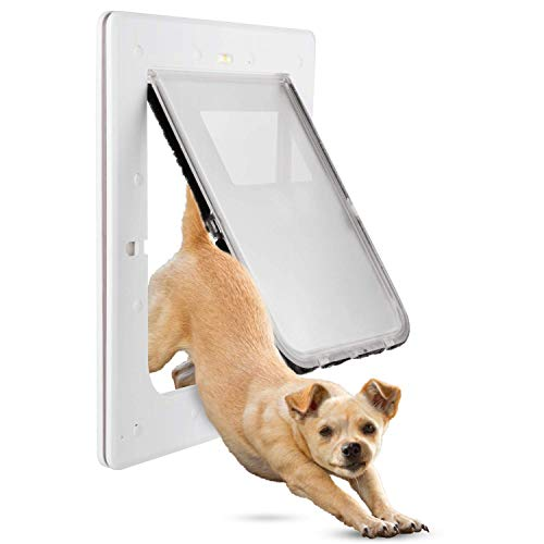 Medium Dog Door - Petouch Pet Door for Dogs and Cats, Durable, Low-Maintenance, 12.4