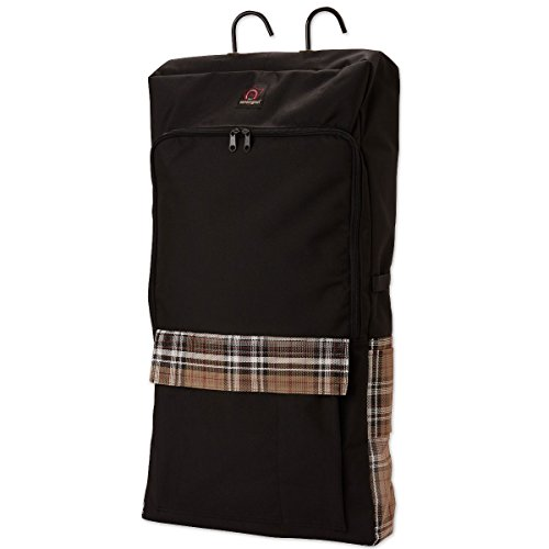 Kensington Deluxe Halter and Bridle Bag — Features 3 Halter and Bridle Hooks Inside — Additional Pockets with Velcro Tops — Heavy Duty All Around Zipper and Nylon Carry (Nylon Bridle Bag)