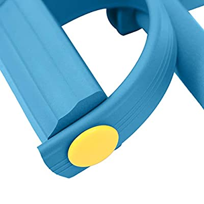 Ankle Puller Sit Up Mat Pull Rope Foot Pedal Exerciser Fitness Equipment Blue: Clothing