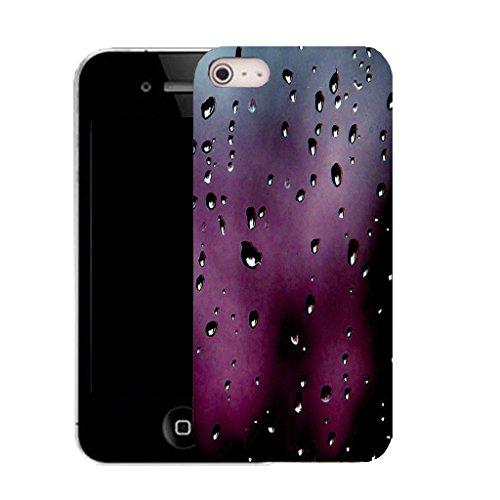 Mobile Case Mate iPhone 5c clip on Dur Coque couverture case cover avec Stylet - purple drizzle droplet Motif