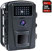 COOLIFE 16MP 1080P HD Caméra de Chasse Vitesse de Déclenchement 0.2s et 27 pcs Infrarouges LED de 940nm, Camera de Chasse...
