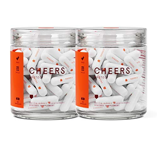 Cheers Protect Liver Capsules - Liver Support Supplement with Milk Thistle Extract & N-Acetyl Cysteine - Glutathione Supplement for Liver Detox - 120 Vegetarian Pills to Promote Liver Health Anti Alcohol Antioxidants 100 Capsules