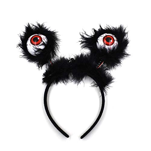Eyeball Costumes For Halloween (Halloween LED Flashing Eyeball Headband Hoop, Costume Accessories for Halloween Party, Horror Glowing Dress Up Props)